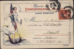 CP Correspondance Militaire Honneur Aux Alliés Marianne écrasant Aigle Allemand Drapeaux Alliés Guerre 14 - War 1914-18