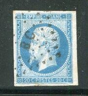 Y&T N°14A Ambulant B C - 1853-1860 Napoléon III