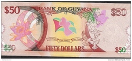GUYANA P41 50  DOLLARS 2016 COMMEMORATIVE UNC. - Guyana