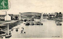 ANDRESY - 78 - Le Pont Viaduc Du Chemin De Fer D'Argenteuil à Mantes - Péniches - 75463 - Andresy