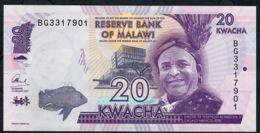 MALAWI P63d 20 KWACHA  2017   UNC. - Malawi