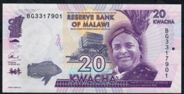 MALAWI P63d 20 KWACHA  2017 #BG   UNC. - Malawi