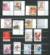 MACEDONIA 2013/2014/2015/2016/2017 FULL SERIAL - 15 Stamps - RED CROSS. MNH - Macedonia