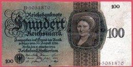 587-Allemagne Billet De 100 Mark 1924 B505 - 100 Mark