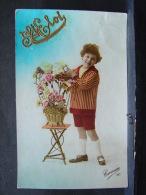 CP. 2777. Vive Saint Eloi. Enfant Et Bouquet De Fleurs - Feiern & Feste