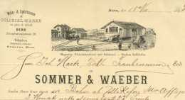 Sommer & Waeber BERN 1893 Wein & Spirituosen Bahnhof Zollikofen - Suisse