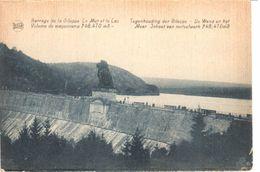 Liège - CPA - Gileppe - Le Mur Et Le Lac - Gileppe (Barrage)