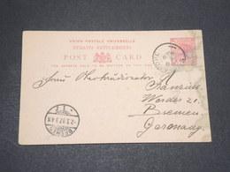SINGAPOUR  - Entier Postal Pour L 'Allemagne En 1897 - L 14104 - Singapore (...-1959)