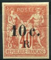 Reunion (1885) N 9 * (charniere) - Réunion (1852-1975)