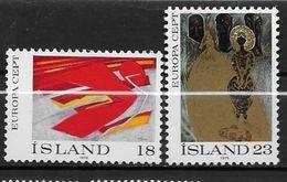 Islande 1975 N° 455/456  Neufs ** MNH Europa Tableaux - 1944-... Republik