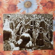 RUSSIA. Far East. YAKUTIA. Celebration Day - Rare Postcard 1963 Traditional Dance - Accordeon - Russia