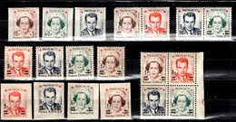 Monaco Petit Ensemble Type Charlotte Et Rainier 1949/1951 Neufs. B/TB. A Saisir! - Unused Stamps