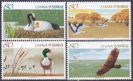 China VR 2005 Tiere Fauna Animals Vögel Birds Oiseaux Pajaro Uccelli Naturschutz Naturreservat Xianghai, Mi. 3561-4 ** - 1949 - ... Volksrepublik