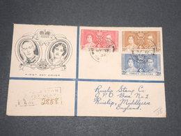 ILES VIERGES BRITANNIQUES  - Enveloppe FDC En Recommandé En 1937 Pour La Grande Bretagne - L 14107 - Iles Vièrges Britanniques