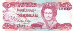 BAHAMAS 3 DOLLARS 1984 PICK 44 UNC - Bahamas