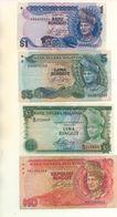 MALAISIE - 4 Billets Différents - 1, 5(2) Et 10 Ringgit - Malaysie