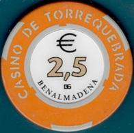 €2,5 Casino Chip. Casino Torrequebrada, Benalmadena, Spain. L18. - Casino