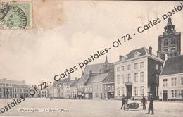 CPA - Belgique > Flandre Occidentale > Poperinge - Poperinghe - La Grand'Place - Animée - Rare - Poperinge
