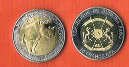 """Burkina Faso 50 Francs """"Rhinoceros"""" - 2017 - Bimetal - Burkina Faso"""