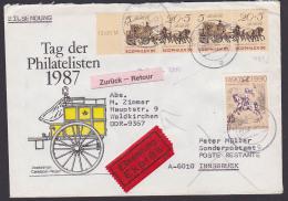 Eil-Auslandsbrief Mit Personenpostwagen Zdr. In MiF Mit Westberlin Nach Innsbruck, DDR Retour - [6] República Democrática