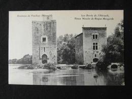 CPA ENVIRONS DE PAULHAN LES BORDS DE L'HERAULT VIEUX MOULIN DE ROQUE MENGARDE (34 HERAULT) - Autres Communes