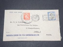 NOUVELLE - ZELANDE - Enveloppe De Wellington Pour Paris En 1955 - L 14114 - Nouvelle-Zélande