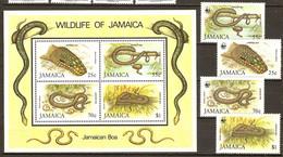 Jamaica 1984 JAMAIKA Boa REPTILES 4v 1984 MNH** - W.W.F.