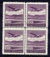 BOHEMIA And MORAVIA 1939 Airmail 30 H. Block Of 4 MNH / **.  MICHEL B1 - Besetzungen 1938-45