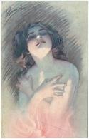 Illustrateur Signé. Femme Nue. La Fiamma. - Illustrateurs & Photographes