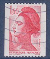 = Type Liberté De Delacroix  1.60f  Rouge  Roulette 2192 Oblitérée - Coil Stamps