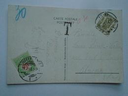 D156799  Belgium Bruxelles -Differdange - Postage Due 1938 - Postage Due