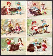 SERIES COMPLETE DE 6 CHROMOS Chocolat SUCHARD   +/- 1888         Serie 10        Trade Cards - Suchard