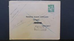 Lettre 1940 D'un Réfugié D' Alsace Au Mans Pour Un Réfugié En Dordogne ( Cendrieux ) Retour A L'Envoyeur - Guerre De 1939-45