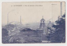 CPA Le Creusot - Puits St-Antoine Et Gare Mixte - Le Creusot