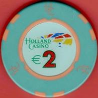 €2 Casino Chip. Holland Casino, Netherlands. L19. - Casino