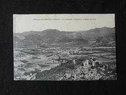 CPA ENVIRONS DE LAMALOU VUE GENERALE D'HEREPIAN ET VALLEE DE L'ORB  (34 HERAULT) 1914 - Autres Communes