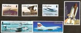 Gibraltar  2003 Yvertn° 1037-42 *** MNH  Cote 13,50 Euro Avions Vliegtuigen Airplanes - Gibraltar