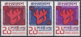 Bangladesch Bangladesh 1972 Geschichte History Unahbängigkeit Independence Feuer Flammen Fire Flames, Mi. 13-5 ** - Bangladesch