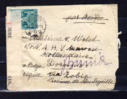1941  Hongrie 1941, Lettre Hongrie-Congo Belge Ouverte Par Censure - Hungary