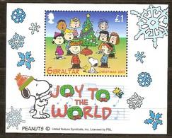 Gibraltar 2003 Yvertn° Bloc 58 *** MNH  Cote 5,00 Euro  Noël Christmas Kerstmis Snoopy - Gibraltar