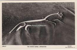 Vintage Real Photo Postcard; The White Horse. Uffington. Oxfordshire. - England
