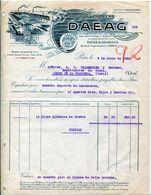 FACTURE- SOCIETE ANONYME DAEAG- PARIS  1925 - Alimentos
