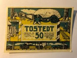 Allemagne Notgeld Tostedt 50 Pfennig - [ 3] 1918-1933 : Weimar Republic