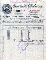 FACTURA-GUST & H. PROBST S. A. -LANGNAU-EMMENTAL- 1927- MARQUE -RIGI - Switzerland