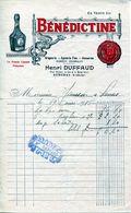 FACTURE--BÉNÉDICTINE-HENRI DUFFAUD- 1916- AUBENAS (ARDÈCHE) - Alimentos