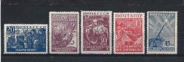 URSS197) 1942-43  Difesa Nazionale 2a Serie - Serie Cpl 5val MNH** - 1923-1991 URSS
