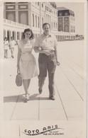 MAR DEL PLATA PHOTO ORIGINAL. PAREJA COUPLE. PLAGE BEACH POSTAL. -TBE-BLEUP - Anonymous Persons