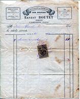 FACTURE--CHEMISIER- ERNEST BOUTET- 1890- CASTRES - Textilos & Vestidos