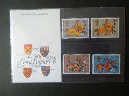 GREAT BRITAIN [GB] SG 958 MEDIEVAL WARRIORS (1974)   PRESENTATION PACK SET - Presentation Packs