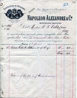 FACTURE--IMPRIMEURS-GRAVEURS- NAPOLEON ALEXANDRE & CIE- 1893 - PARIS - Imprenta & Papelería